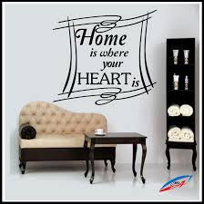 Home Is Quotes by Wall Art Stickers Decors Quotes And Phrases Home Is Where Your