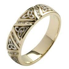 Irish Wedding Rings by Diamond Trinity Knot Comfort Fit Wedding Ring For Men