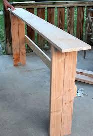 Diy Sofa Table Simple Diy Sofa Table Tutorial Hometalk