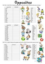 71 free esl opposites antonyms worksheets