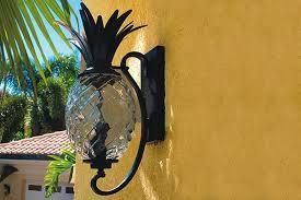 Pineapple Light Fixture Pineapple Outdoor Lighting Lilianduval Intended For Light Remodel