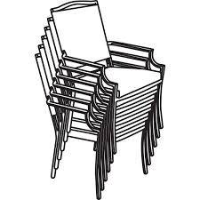 Dining Room Table Clipart Black And White Amazon Com Classic Accessories Terrazzo Stackable Patio Chair