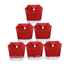 Chair Back Covers Christmas Dining Chair Seat Covers Santa Claus Hat Chair Back