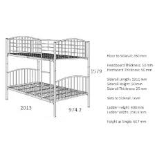 Paddington Children Metal Bunk Bed In Silver - Paddington bunk bed
