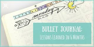 bullet journal lessons learned in 6 months boho berry