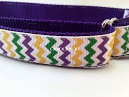 dog collar mardi gras chevron 1 inch wide adjustable