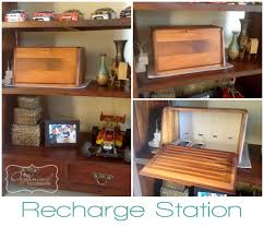 charging box diy cell phone charging station tutorial bread boxes shelves and