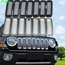 jeep front grill new bolaxin car styling chrome silver black front mesh grille