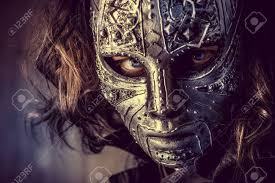 faceless mask halloween portrait of a mysterious man in iron mask steampunk fantasy