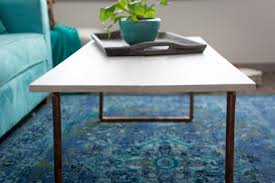 coffee tables beautiful diy wood copper coffee table by jenny