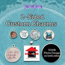 personalized picture charms sided photo charms personalized photo jewelry custom zipper