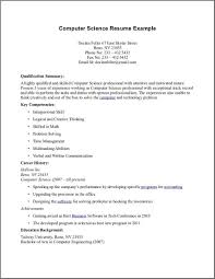 computer science resume science resume exles resume templates