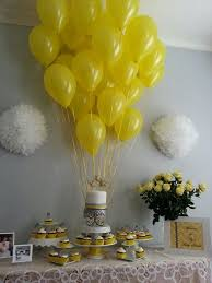 yellow and gray baby shower decorations yellow and white baby shower centerpieces