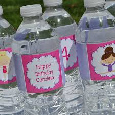 personalized party supplies gymnastics tumbling birthday party water bottle labels