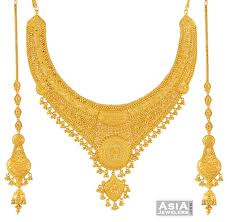 gold har set necklace earring sets 22k necklace set big gold bridal necklace