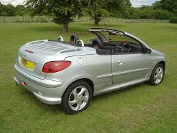 peugeot cabriolet 206 stunning silver peugeot 206 coupe cabriolet convertible only