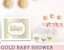 baby girl shower ideas pink and gold baby shower favors baby girl party favors