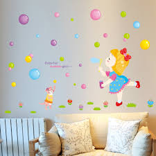 Wall Decals Patterns Color The by Diy Cute Cartoon Color Bubble Balloon Wall Stickers Stickers