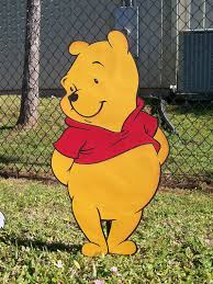 winnie the pooh character standup or room decoration standee