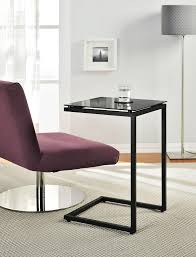 C Side Table Ameriwood Home Crane Glass Top C Table Black Kitchen