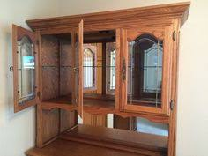 Oak Hutch And Buffet by Beautiful Solid Oak Hutch And Buffet Storage Cabinet Display Home