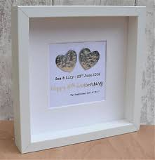 10th wedding anniversary gifts 10th wedding anniversary gift tin large contemporary frame