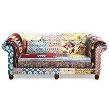 sofa bunt 3 sitzer sofa mit bezug textil in bunt patchwork modell ace