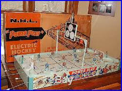 Table Top Hockey Game Vintage 1959 Eagle Toys Nhl Power Play 5320 Coleco Tin Table Top