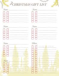 gift list free printable christmas gift list going home to roost