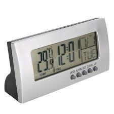 horloge de bureau moderne numérique réveil lcd affichage calendrier snooze thermomètre