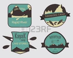 set of mountain campsite logo templates outdoor activity travel