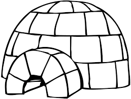 coloring pages igloo coloring