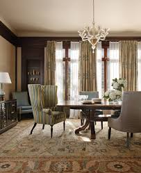 dining wing chair dining room traditional with french doors