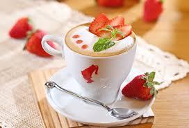 cuisine cappuccino wallpaper food fruit strawberries drink foam