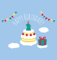happy birthday balloon three year old royalty free vector