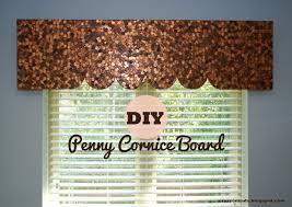 crazy cozads diy penny cornice board window treatment