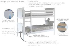Beech Bunk Beds Classic Bunk Bed Dove Grey Folks Furniture