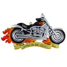 personalized ornament harley davidson motor cycle