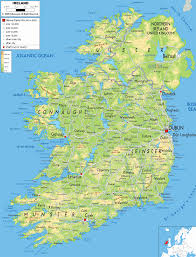 map of ireland geography city ireland map geography