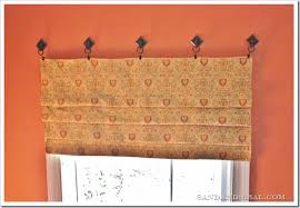 How To Make A No Sew Window Valance A Few Ways To Fake Window Treatments Sand And Sisal