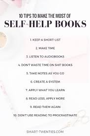 my tips to make the most of self help books développement