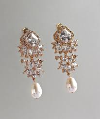 and pearl chandelier earrings chandelier earrings gold bridal earrings gold pearl