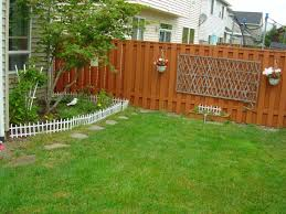 Backyard Fence Decorating Ideas Fence Ideas For Yard Garden Design