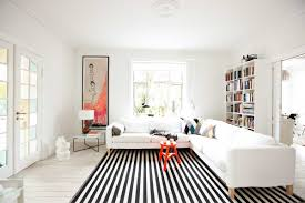 Trendy Rugs Black And White Striped Rug 20 Trendy Decor Also Living Room