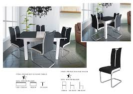 modernique primo extending dining table and 4 chairs dining