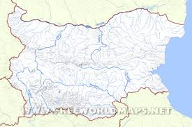 Rivers Of Africa Map by Bulgaria Physical Map