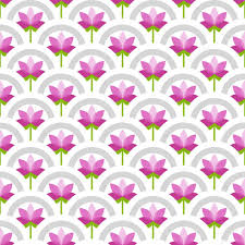 vector lotus flower vector seamless japanese style half circle
