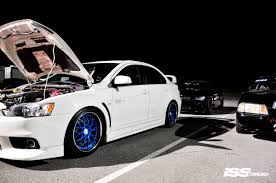 spyder mitsubishi mitsubishi evolution on iss forged spyder blue iss forged