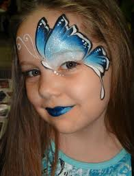 Blue Butterfly Halloween Costume 25 Kids Makeup Ideas Easy Face Painting