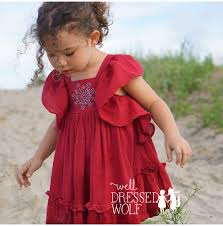 well dressed wolf 4t ana dress sparkler red owned wdw